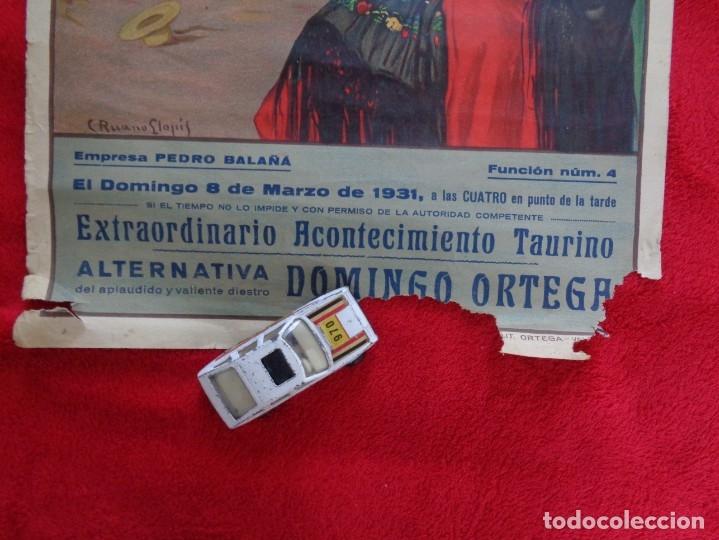 Carteles Toros: CARTEL TOROS - BARCELONA - MARZO DE 1931 - ALTERNATIVA DE DOMINGO ORTEGA - ILUSTR.: RUANO LLOPIS - Foto 4 - 177123477