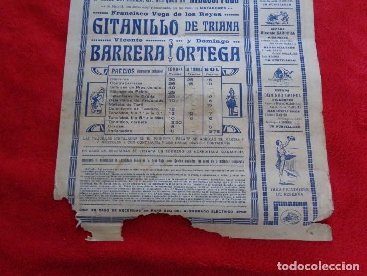 Carteles Toros: CARTEL TOROS - BARCELONA - MARZO DE 1931 - ALTERNATIVA DE DOMINGO ORTEGA - ILUSTR.: RUANO LLOPIS - Foto 7 - 177123477