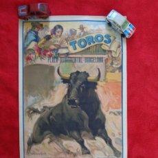 Carteles Toros: CARTEL TOROS - BARCELONA - MARZO DE 1931 - ALTERNATIVA DE DOMINGO ORTEGA - ILUSTR.: RUANO LLOPIS. Lote 177128537