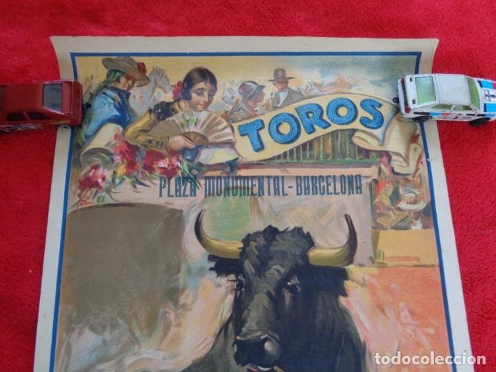 Carteles Toros: CARTEL TOROS - BARCELONA - MARZO DE 1931 - ALTERNATIVA DE DOMINGO ORTEGA - ILUSTR.: RUANO LLOPIS - Foto 2 - 177128537