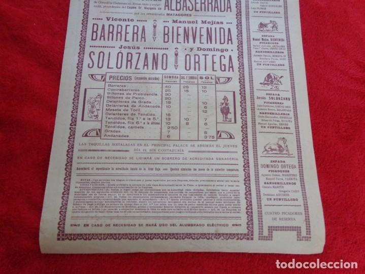 Carteles Toros: CARTEL TOROS - BARCELONA - MARZO DE 1931 - ALTERNATIVA DE DOMINGO ORTEGA - ILUSTR.: RUANO LLOPIS - Foto 6 - 177128537