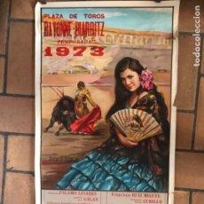 Carteles Toros: CARTEL DE TOROS, PLAZA DE BAYONNE-BIARRITZ. 1973. Lote 177134257