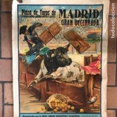 Carteles Toros: CARTEL DE TOROS GRAN BECERRA DA PLAZA DE MADRID 1930. Lote 177134319