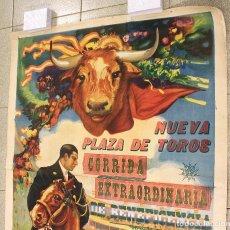 Carteles Toros: ESPECTACULAR CARTEL CORRIDA EXTRAORDINARIA NUEVA PLAZA TOROS BARCELONA. 1913. CIRCULO ECUESTRE. Lote 177288224