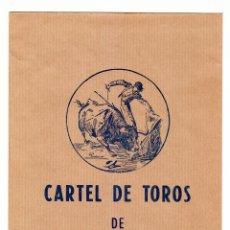 Carteles Toros: CURIOSO SOBRE PARA CARTELES TOROS EDITADO IMPRENTA LITOGRAFÍA ORTEGA, VALENCIA ILUSTRACIÓN RUANO AA. Lote 217189453