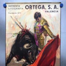 Carteles Toros: CARTEL DE TOROS SIN IMPRIMIR - LITOGRAFIA ORTEGA - CROS ESTREMS - AÑO 1963 - M. BENITEZ EL CORDOBES. Lote 177790042