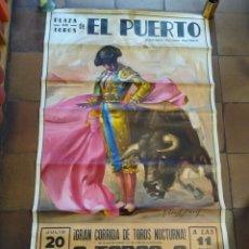 Carteles Toros: CARTEL TOROS PUERTO DE SANTA MARÍA. 1968 BRAGANZA, PALOMO LINARES ÁNGEL TERUEL. Lote 177818128