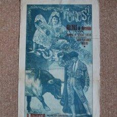 Carteles Toros: CARTEL DE TOROS DE BARCELONA. 6 DE JULIO DE 1916. ALLO, GALLITO Y BLANQUITO, IGNACIO SÁNCHEZ MEJÍAS. Lote 178041083