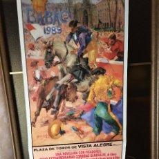 Carteles Toros: CARTEL DE TOROS DE 1989 PLAZA DE VISTALEGRE. Lote 178145193