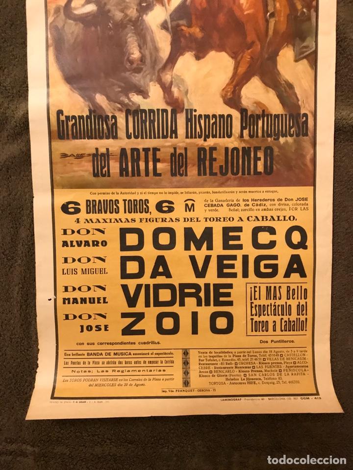 Carteles Toros: TAUROMAQUIA. Cartel Plaza de Toros de VINAROZ. Grandiosa corrida Hispano Portuguesa - Foto 3 - 178292558