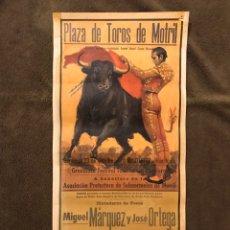 Carteles Toros: TAUROMAQUIA. CARTEL PLAZA DE TOROS DE MOTRIL (H.1970?) GRANDIOSO FESTIVAL TAURINO CON PICADORES .. Lote 178294305