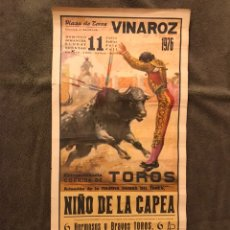 Carteles Toros: TAUROMAQUIA. CARTEL PLAZA DE TOROS DE VINAROZ.(A.1976) EXTRAORDINARIA CORRIDA DE TOROS..... Lote 178294743