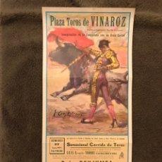 Carteles Toros: TAUROMAQUIA. CARTEL PLAZA DE TOROS DE VINAROZ. INAUGURACIÓN DE LA TEMPORADA...(A.1971). Lote 178299815
