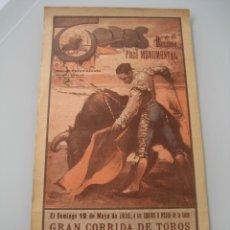 Carteles Toros: CARTEL TOROS PLAZA MONUMENTAL BARCELONA 1935. NICANOR VILLALTA, ARMILLITA CHICO, DOMINGO ORTEGA . Lote 178352735