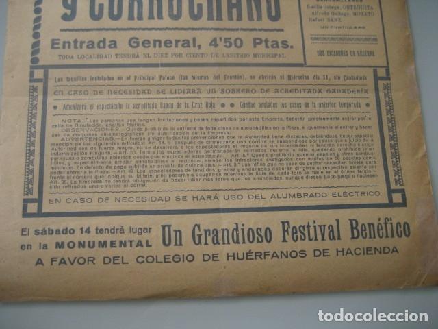 Carteles Toros: CARTEL TOROS PLAZA MONUMENTAL BARCELONA 1934. JUAN BELMONTE, RAFAEL GOMEZ GALLO, ALFREDO CORROCHANO - Foto 6 - 178354045