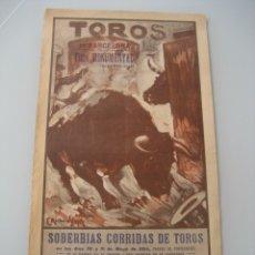 Carteles Toros: CARTEL TOROS PLAZA MONUMENTAL BARCELONA 1934. GALLO, CAGANCHO, CARNICERITO DE MEXICO, LALANDA, BARRE. Lote 178354842