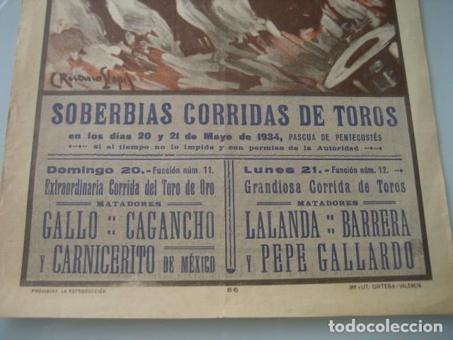 Carteles Toros: CARTEL TOROS PLAZA MONUMENTAL BARCELONA 1934. GALLO, CAGANCHO, CARNICERITO DE MEXICO, LALANDA, BARRE - Foto 3 - 178354842