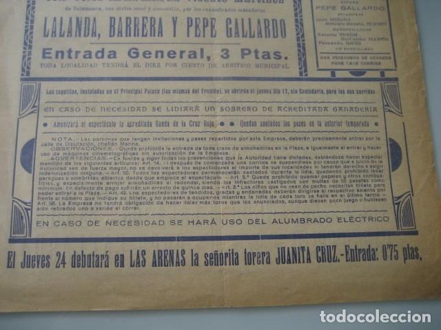 Carteles Toros: CARTEL TOROS PLAZA MONUMENTAL BARCELONA 1934. GALLO, CAGANCHO, CARNICERITO DE MEXICO, LALANDA, BARRE - Foto 7 - 178354842