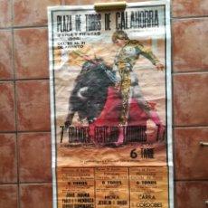 Carteles Toros: GRAN CARTEL DE TOROS AÑO 1996 FIRMADO BALLESTAR 177×78CM. Lote 171171680