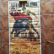 Carteles Toros: GRAN CARTEL DE TOROS AÑO 1996 FIRMADO BALLESTAR 179×78CM. Lote 171326060