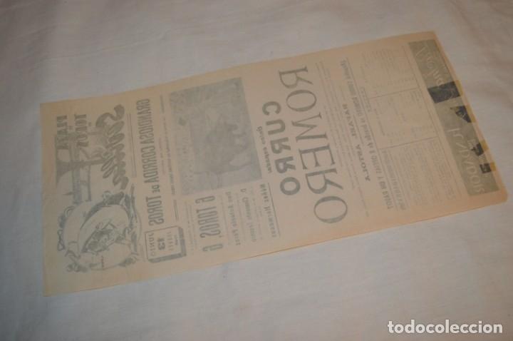 Carteles Toros: Único espada - CURRO ROMERO - Cartel de toros - SEVILLA - Jueves 13 de Junio 1968 - ¡Impresionante! - Foto 6 - 178816026