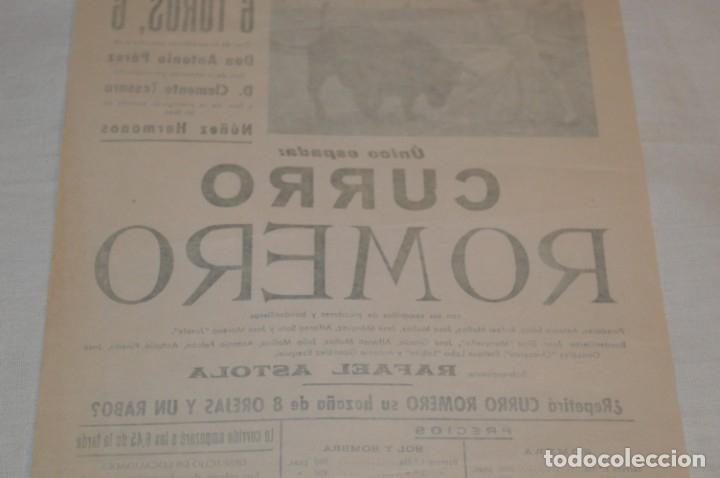 Carteles Toros: Único espada - CURRO ROMERO - Cartel de toros - SEVILLA - Jueves 13 de Junio 1968 - ¡Impresionante! - Foto 8 - 178816026