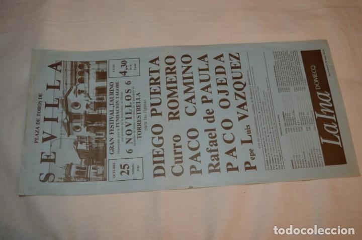 Carteles Toros: CURRO ROMERO y otros 5 - Cartel de toros - SEVILLA - Sábado 25 de octubre de 1986 - ¡Impresionante! - Foto 2 - 178817226