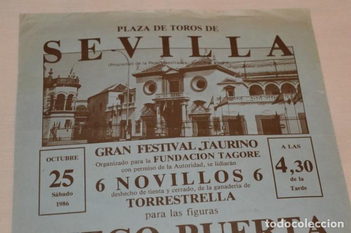 Carteles Toros: CURRO ROMERO y otros 5 - Cartel de toros - SEVILLA - Sábado 25 de octubre de 1986 - ¡Impresionante! - Foto 3 - 178817226