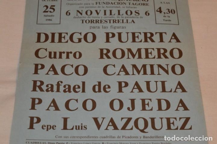 Carteles Toros: CURRO ROMERO y otros 5 - Cartel de toros - SEVILLA - Sábado 25 de octubre de 1986 - ¡Impresionante! - Foto 4 - 178817226