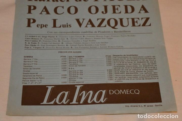 Carteles Toros: CURRO ROMERO y otros 5 - Cartel de toros - SEVILLA - Sábado 25 de octubre de 1986 - ¡Impresionante! - Foto 5 - 178817226