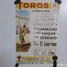 Carteles Toros: CÁRTEL DE TOROS DE PUERTO REAL DEL AÑO 1971. Lote 193966132