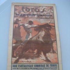 Carteles Toros: CARTEL TOROS PLAZA MONUMENTAL BARCELONA 1934. LALANDA, CAGANCHO, LA SERNA, BARRERA, ORTEGA, DOMINGUE. Lote 179069281