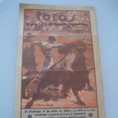 Carteles Toros: CARTEL TOROS PLAZA LAS ARENAS BARCELONA 1935. RODOLFO VELAZQUEZ Y BARRERA DE MEXICO. Lote 179069465