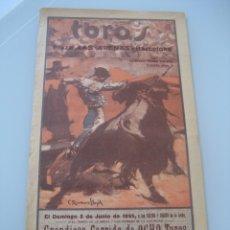 Carteles Toros: CARTEL TOROS PLAZA LAS ARENAS BARCELONA 1935. PEDRUCHO, BEJARANO CARNICERITO DE MEXICO. Lote 179073152