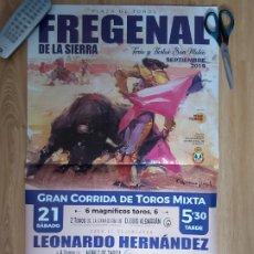 Carteles Toros: LOTE DE 2 CARTELES DE TOROS EMBLEMÁTICOS FREGENAL Y VILLANUEVA. Lote 179152435