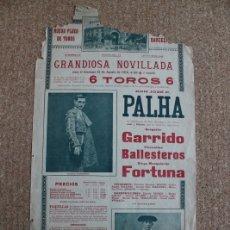 Carteles Toros: CARTEL DE TOROS DE BARCELONA. 15 DE AGOSTO DE 1915. GREGORIO GARRIDO FLORENTINO BALLESTEROS FORTUNA. Lote 179524101