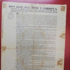 Carteles Toros: HOJA TAURINA. ALBACETE. SIGLO XIX.. Lote 179956432