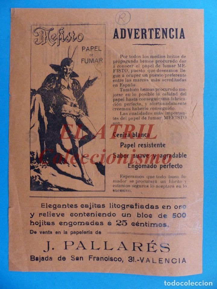 Carteles Toros: VALENCIA - CARTEL DE TOROS - AÑO 1915 - VAQUERITO, CARPIO, CURRITO - Foto 2 - 180446191