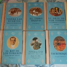 Carteles Toros: COLECCION LA TAUROMAQUIA DE ESPASA CALPE, 10 LIBROS NO VENTA SUELTOS. Lote 180886630