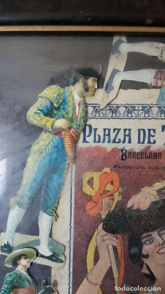 Carteles Toros: PLAZA DE TOROS, EL SPORT, JUEVES 21 MAYO DE 1914, ENMARCADO Y CON CROMOS TROQUELADOS, TAL CUAL SE VE - Foto 5 - 180931120