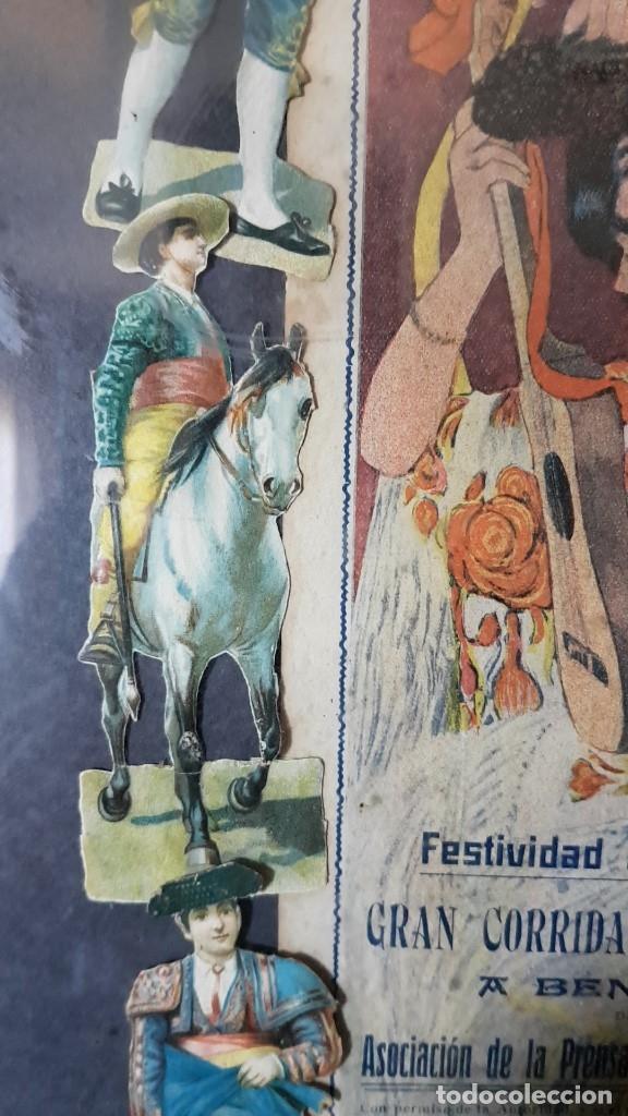 Carteles Toros: PLAZA DE TOROS, EL SPORT, JUEVES 21 MAYO DE 1914, ENMARCADO Y CON CROMOS TROQUELADOS, TAL CUAL SE VE - Foto 6 - 180931120
