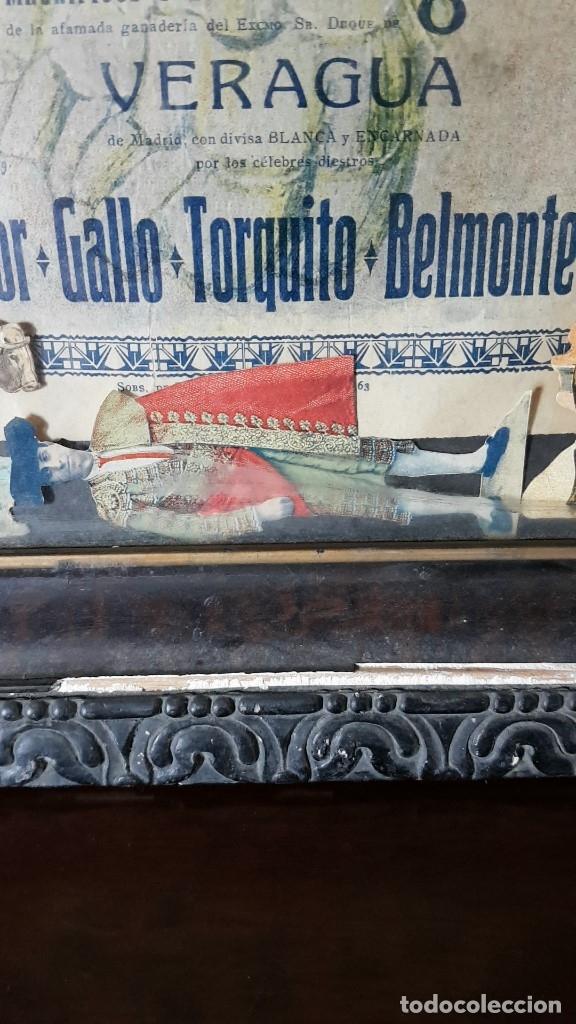 Carteles Toros: PLAZA DE TOROS, EL SPORT, JUEVES 21 MAYO DE 1914, ENMARCADO Y CON CROMOS TROQUELADOS, TAL CUAL SE VE - Foto 9 - 180931120