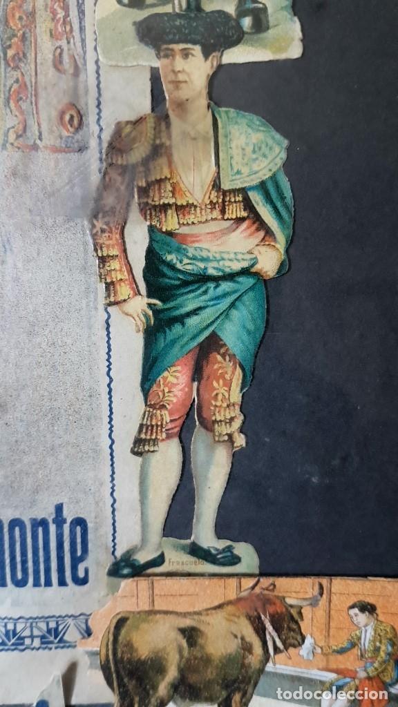 Carteles Toros: PLAZA DE TOROS, EL SPORT, JUEVES 21 MAYO DE 1914, ENMARCADO Y CON CROMOS TROQUELADOS, TAL CUAL SE VE - Foto 11 - 180931120