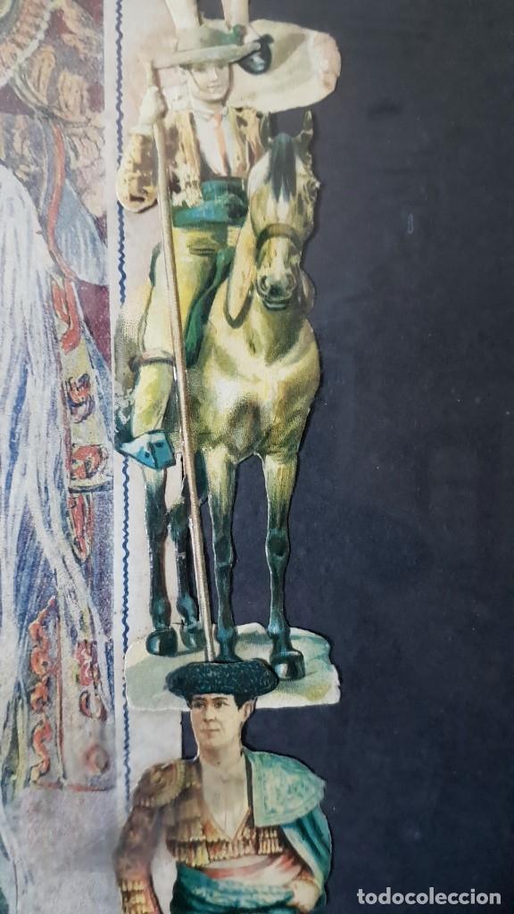 Carteles Toros: PLAZA DE TOROS, EL SPORT, JUEVES 21 MAYO DE 1914, ENMARCADO Y CON CROMOS TROQUELADOS, TAL CUAL SE VE - Foto 12 - 180931120