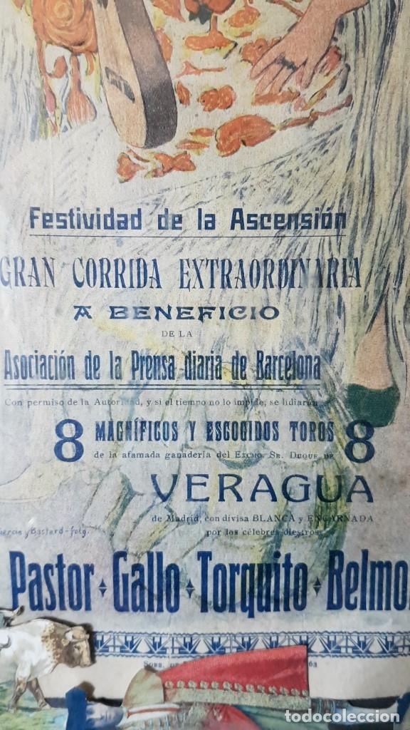 Carteles Toros: PLAZA DE TOROS, EL SPORT, JUEVES 21 MAYO DE 1914, ENMARCADO Y CON CROMOS TROQUELADOS, TAL CUAL SE VE - Foto 13 - 180931120