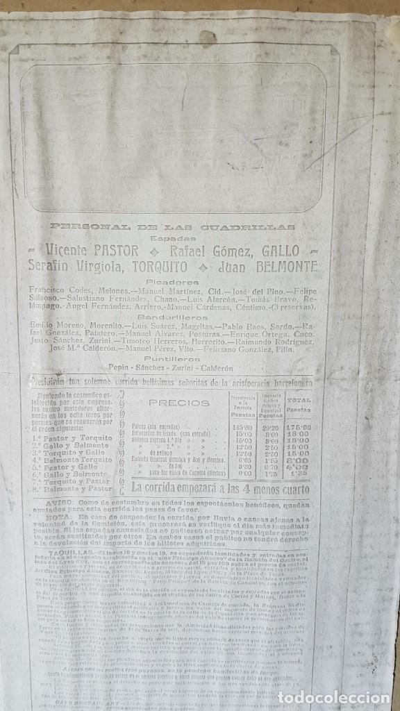 Carteles Toros: PLAZA DE TOROS, EL SPORT, JUEVES 21 MAYO DE 1914, ENMARCADO Y CON CROMOS TROQUELADOS, TAL CUAL SE VE - Foto 15 - 180931120