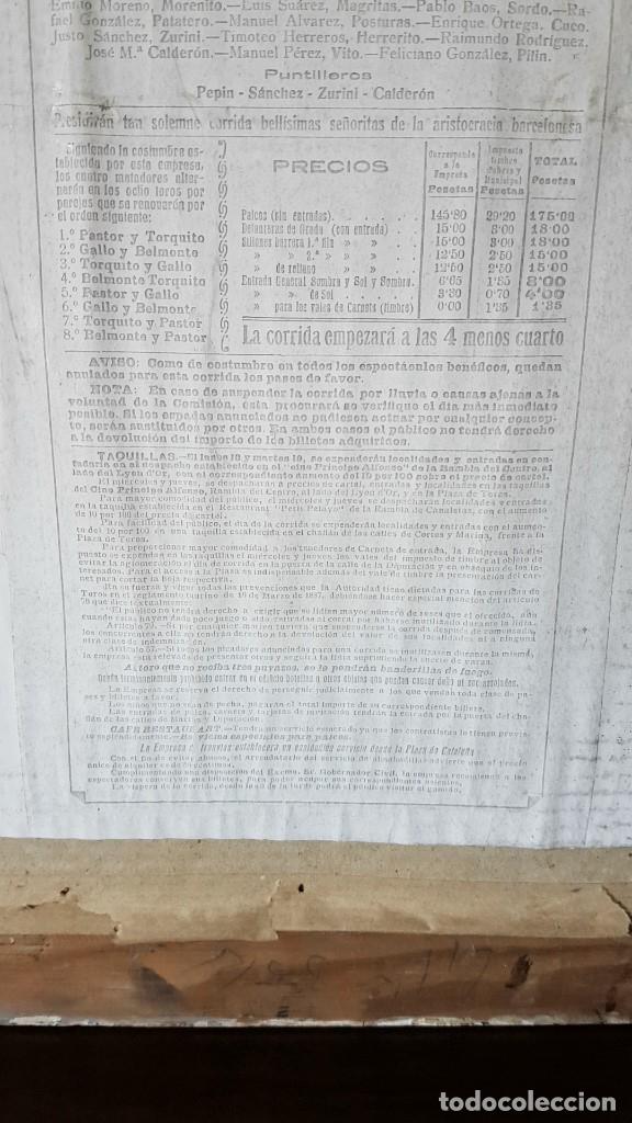 Carteles Toros: PLAZA DE TOROS, EL SPORT, JUEVES 21 MAYO DE 1914, ENMARCADO Y CON CROMOS TROQUELADOS, TAL CUAL SE VE - Foto 16 - 180931120