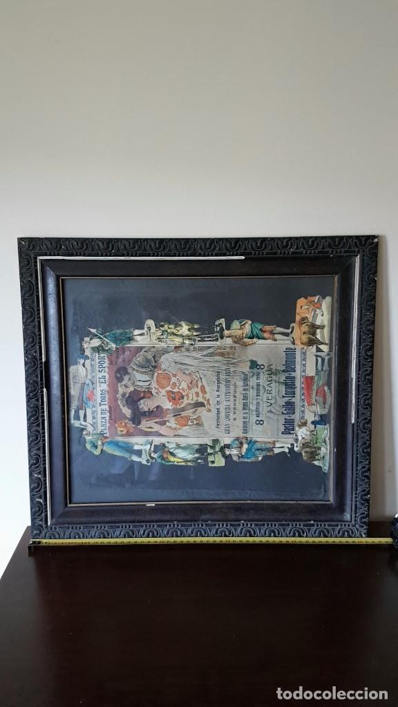 Carteles Toros: PLAZA DE TOROS, EL SPORT, JUEVES 21 MAYO DE 1914, ENMARCADO Y CON CROMOS TROQUELADOS, TAL CUAL SE VE - Foto 19 - 180931120