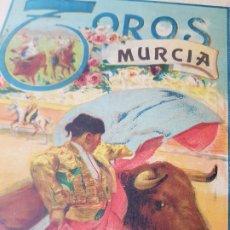 Carteles Toros: ANTIGUO CARTEL PLAZA DE TOROS DE MURCIA 1925 VILLALTA GITANILLO NIÑO DE LA PALMA RUANO LLOPIS. Lote 180958943