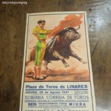 Carteles Toros: CARTEL DEL FATÍDICO JUEVES 28 DE AGOSTO DE 1947. MUERTE DE MANOLETE.. Lote 181138491